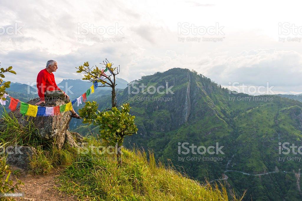 Little Adam's Peak Sri Lanka stock photo