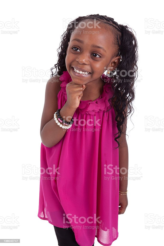 Little african american girl smiling royalty-free stock photo
