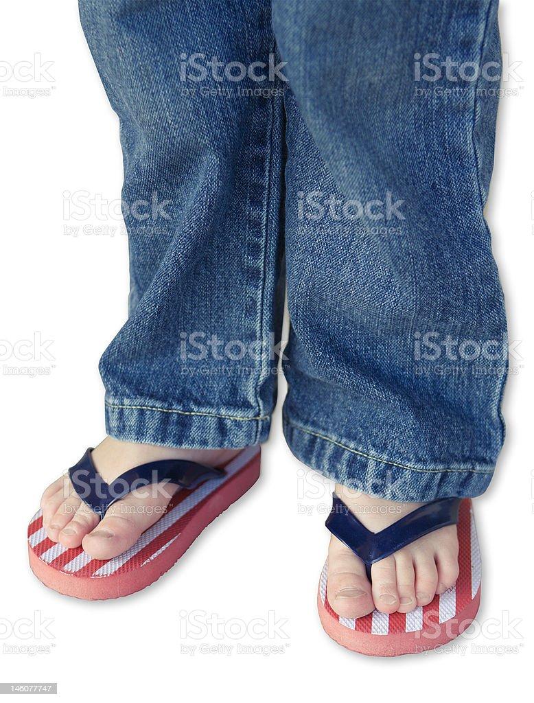 Little American Feet royalty-free stock photo