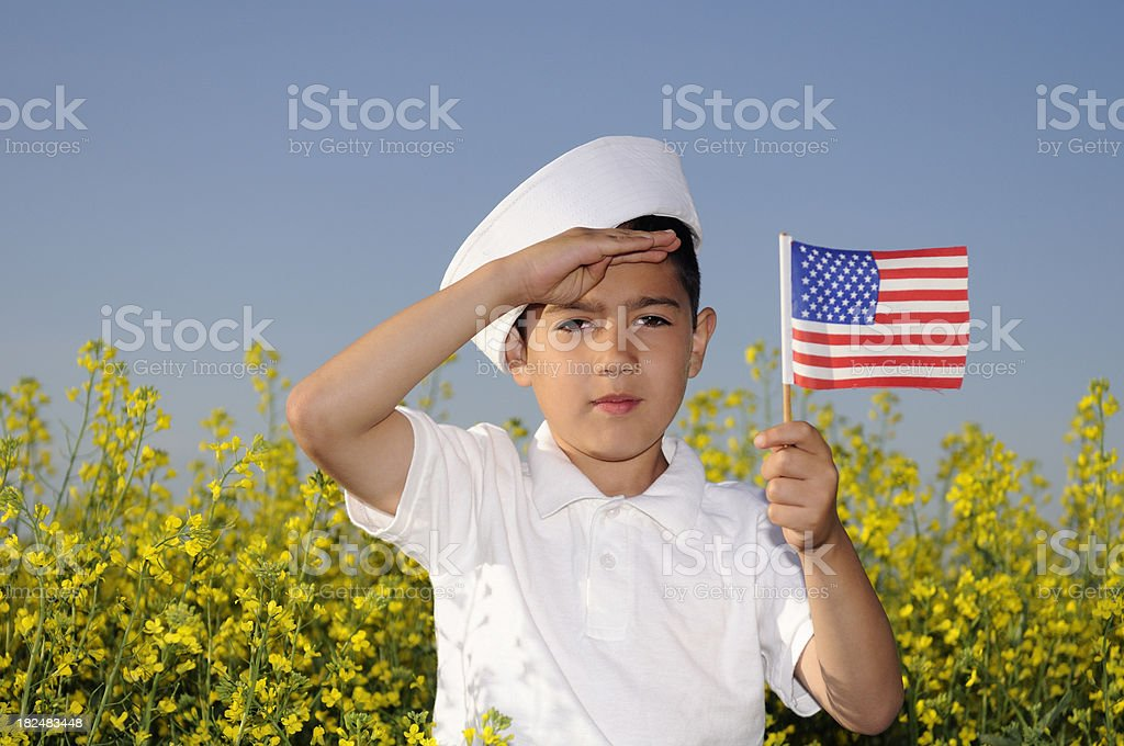 Little American Patriot stock photo