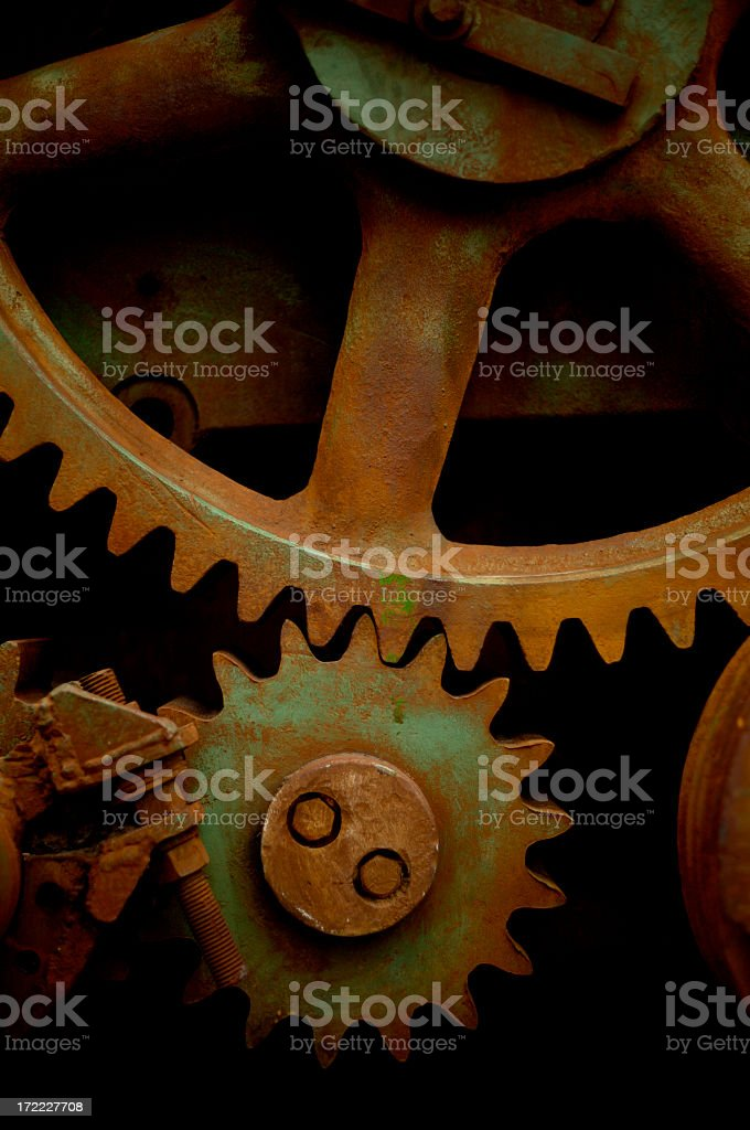 Little and big gear stock photo