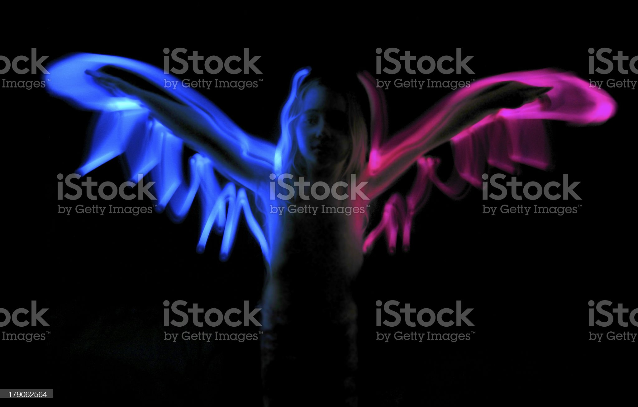 Little angel silhouette royalty-free stock photo