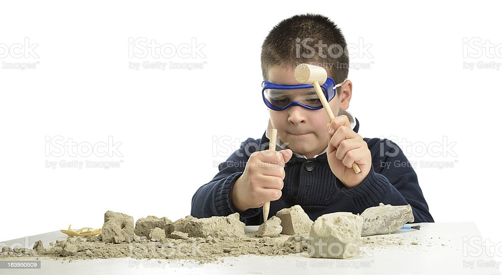 Little Archaeologist royalty-free stock photo