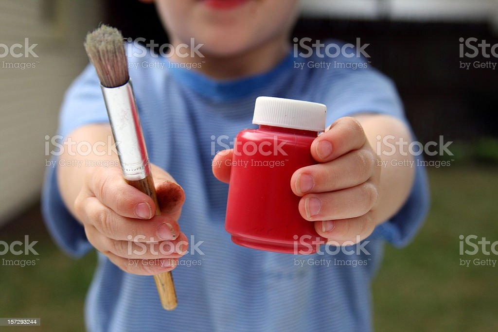 Little Artist - Child with Paint royalty-free stock photo