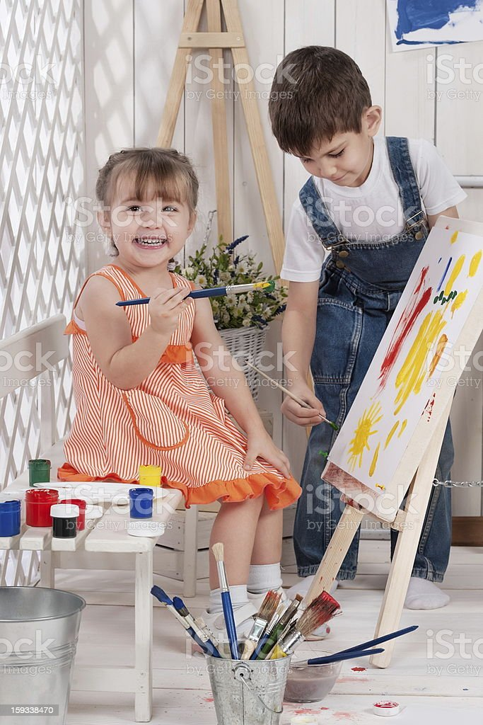 little artists royalty-free stock photo