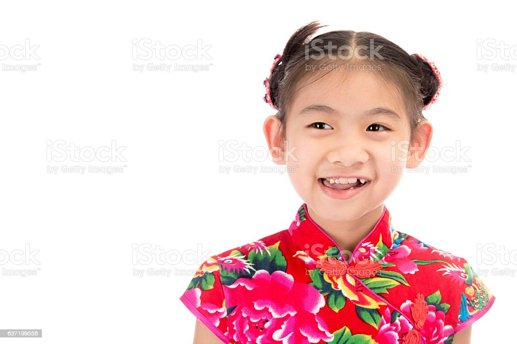 little asian girl showing chinese new year greetings royalty free stock photo - Chinese New Year 1995