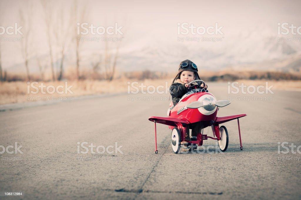 Little Aviator stock photo