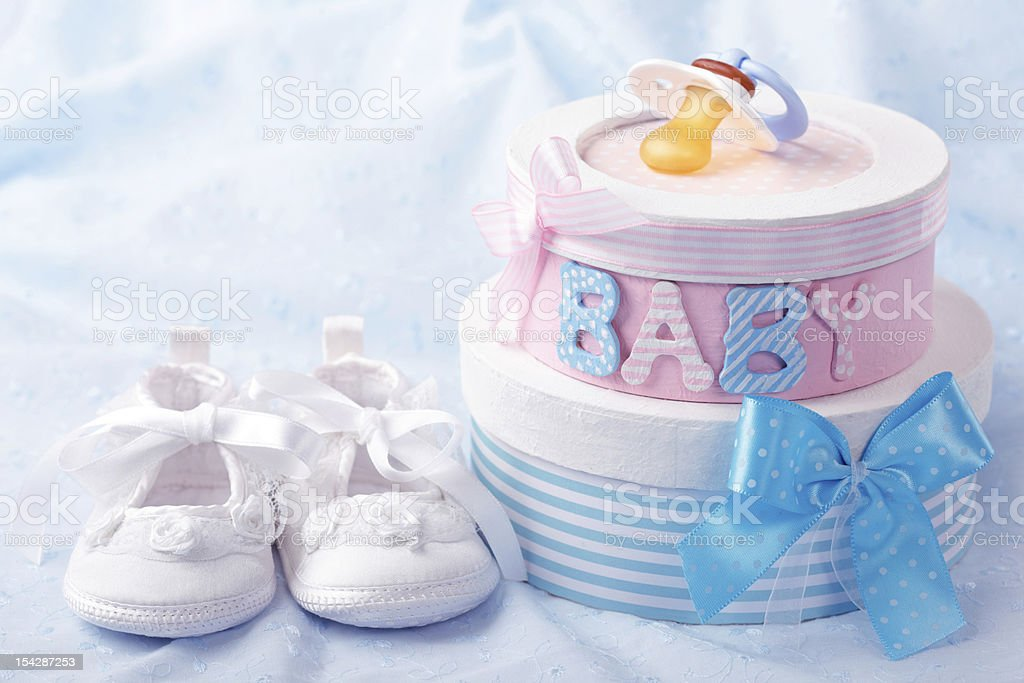 Little baby booties stock photo