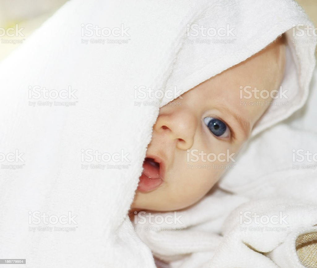 Little baby boy stock photo