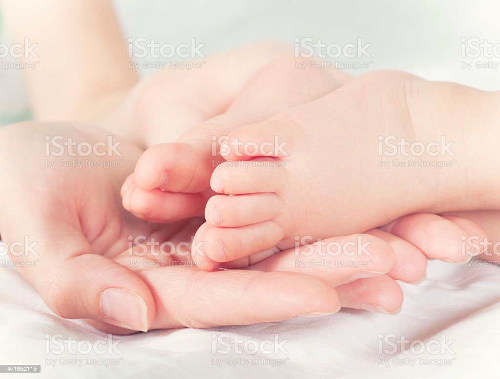 Little baby feet royalty-free stock photo