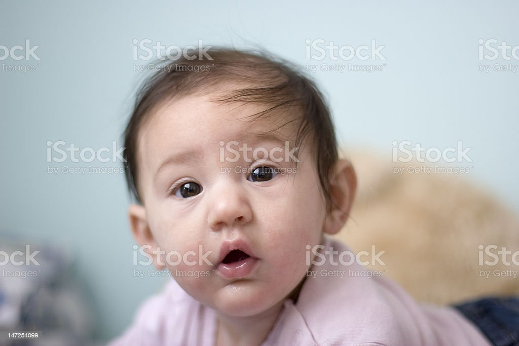 Little baby is sweet looking royalty-free stock photo