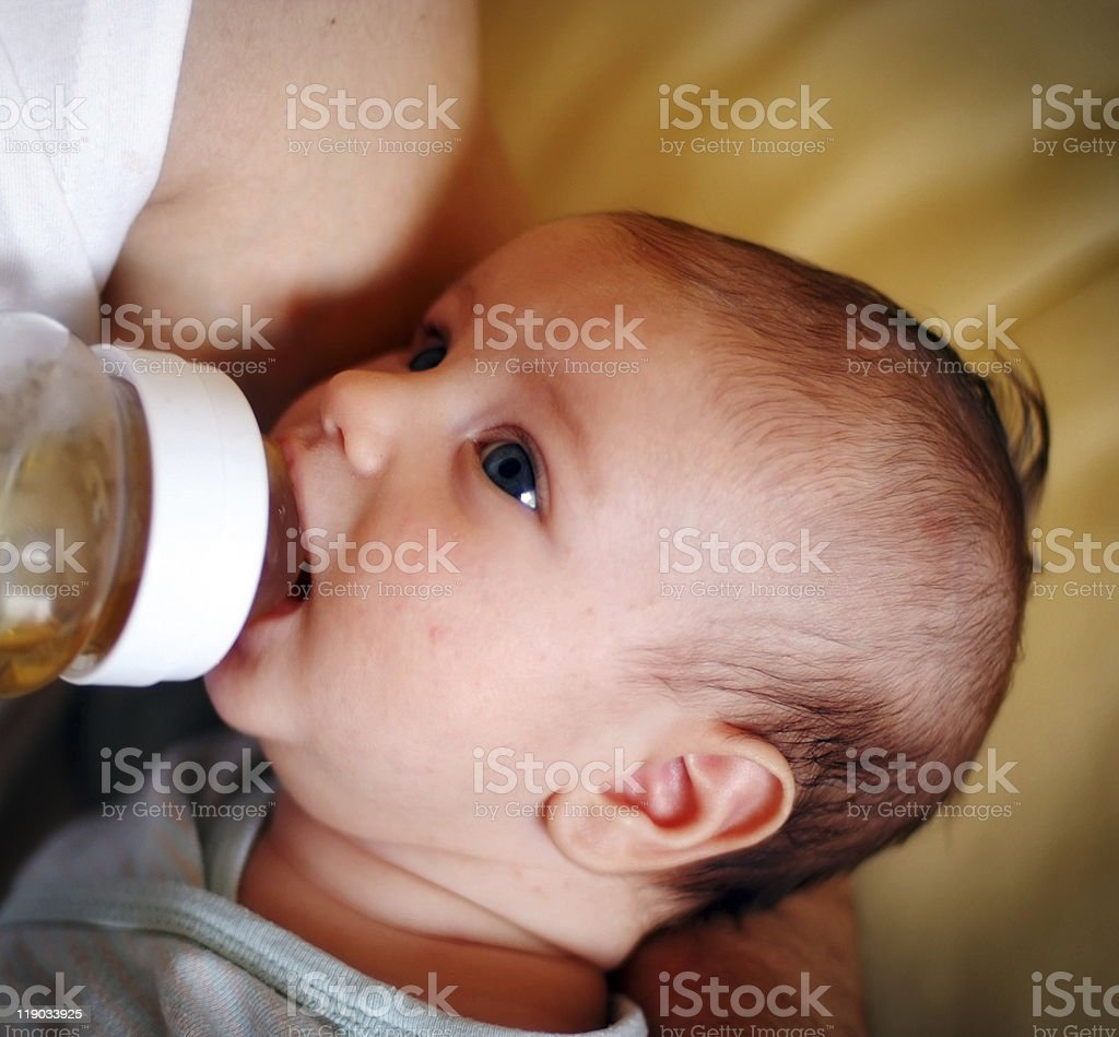 Little baby lunch time royalty-free stock photo