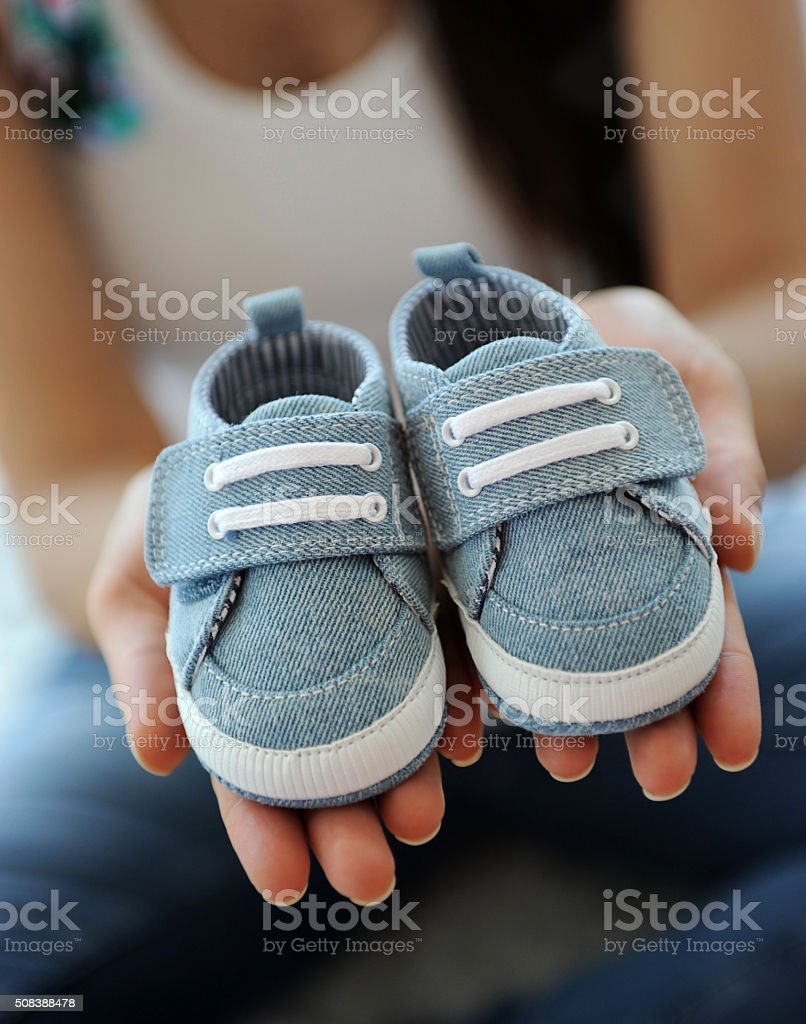 Little baby shoes stock photo stock photo