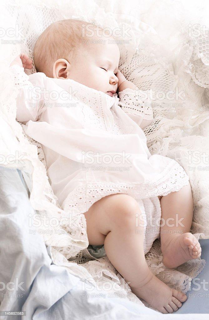 little baby sleeping royalty-free stock photo
