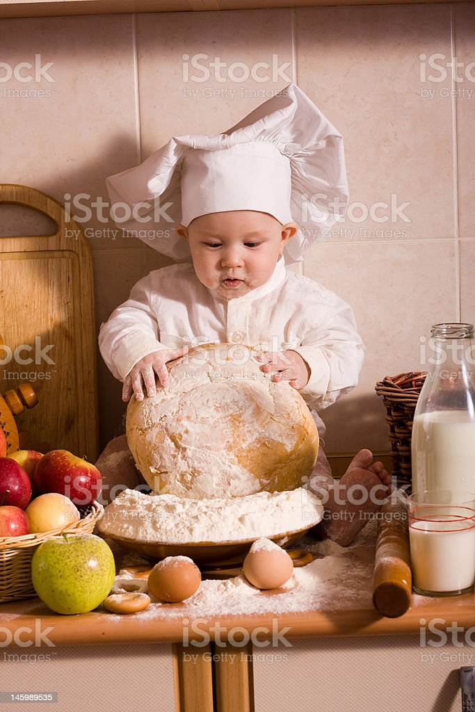 Little baker royalty-free stock photo