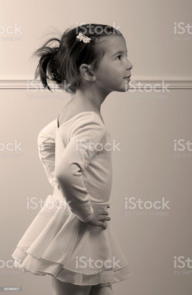 Little balerina royalty-free stock photo
