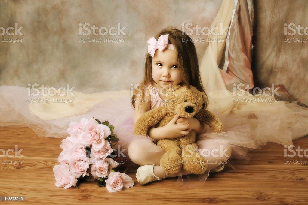 Little ballerina beauty royalty-free stock photo