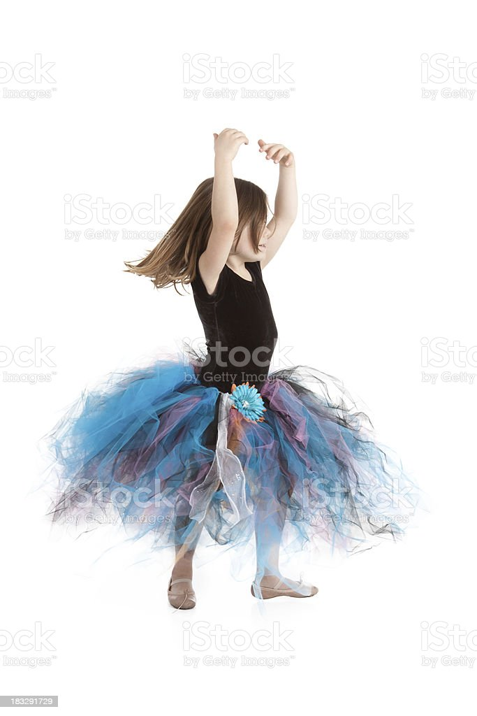 Little Ballerina Girl Dancing and Wearing Tutu royalty-free stock photo