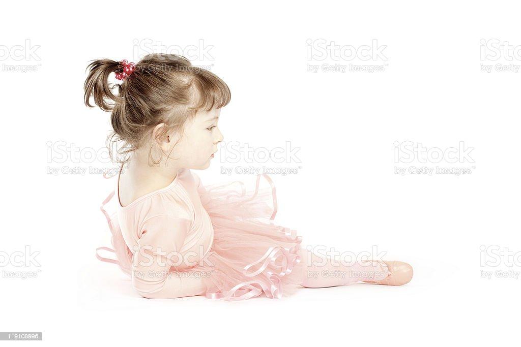 Little Ballerina On Floor royalty-free stock photo
