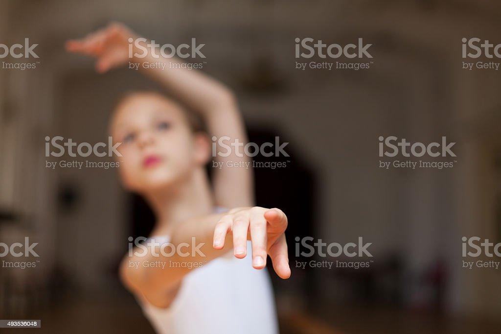 little ballerina posing stock photo