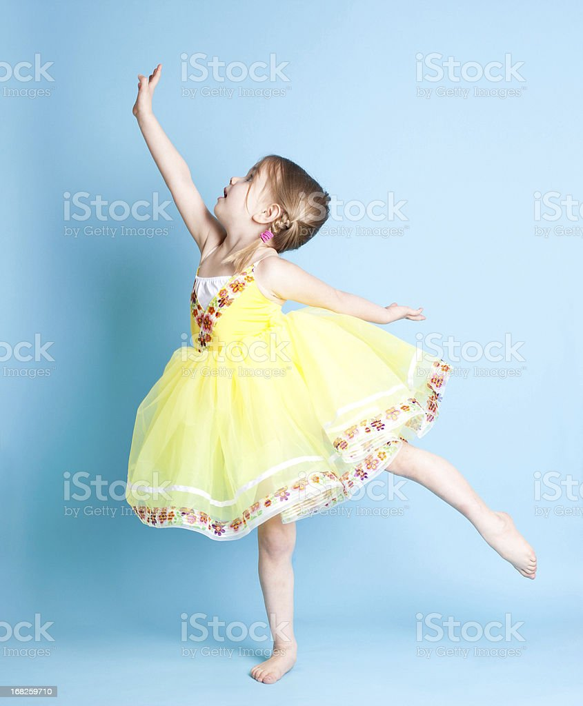 Little Ballerina Showing Arabesque royalty-free stock photo
