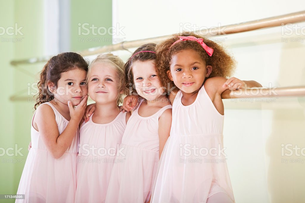 Little ballerinas stock photo