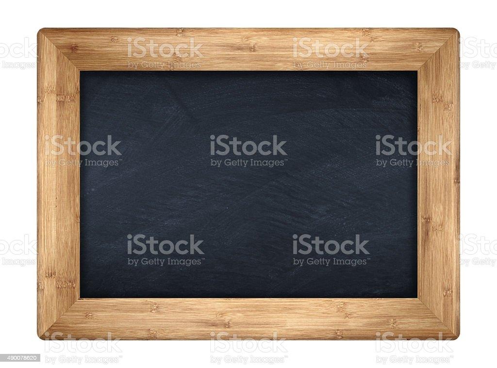 little bamboo blackboard stock photo