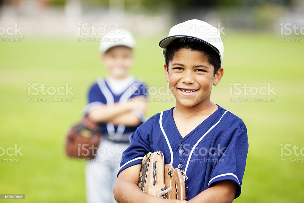 Little Baseball Players royalty-free stock photo