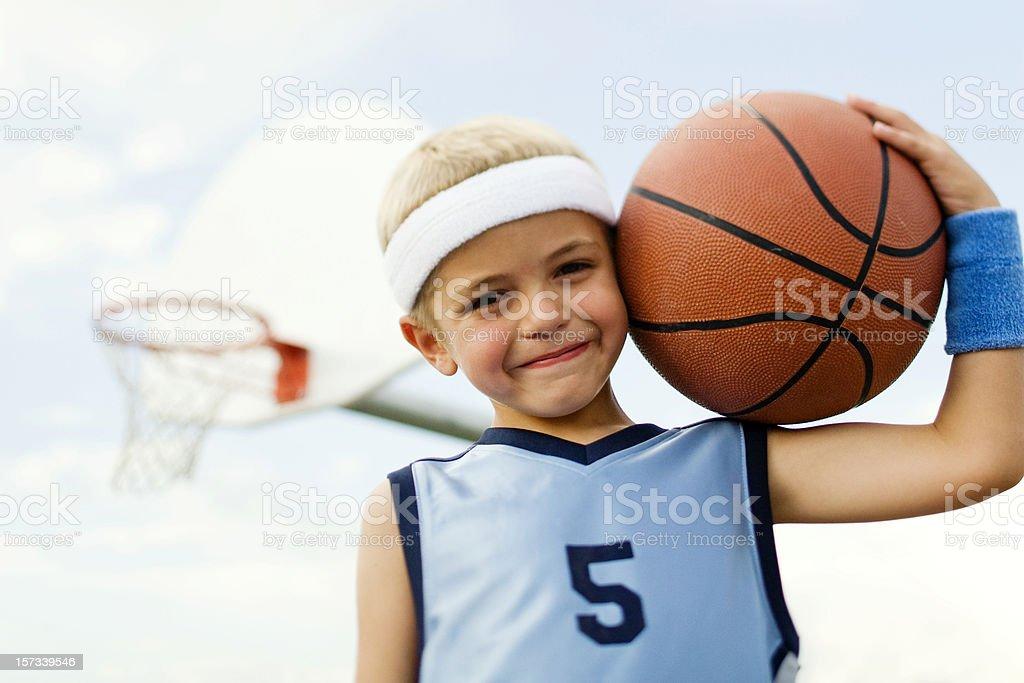 Little Basketballer royalty-free stock photo