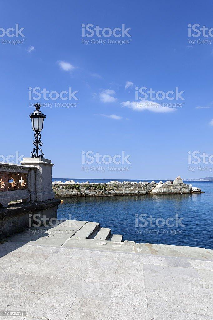 Little bay at the mediterranean sea stock photo