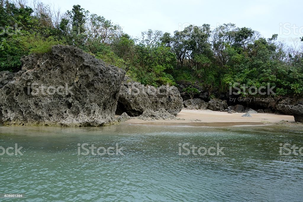 Little bay, Kenting National Park, Taiwan stock photo