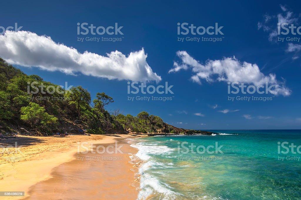 Little Beach in Makena State Park, south Maui, Hawaii, USA stock photo