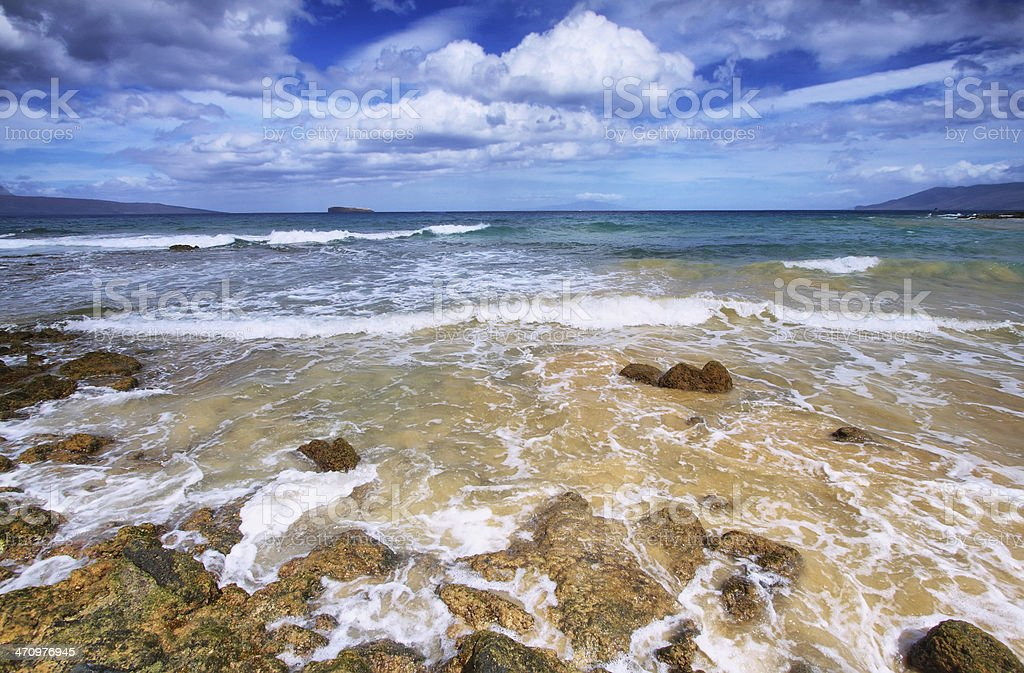 Little beach of Makena State park, stock photo