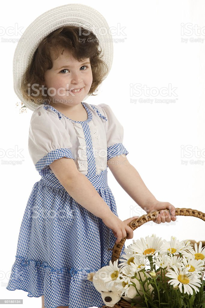 little beautiful girl with bonnet royalty-free stock photo
