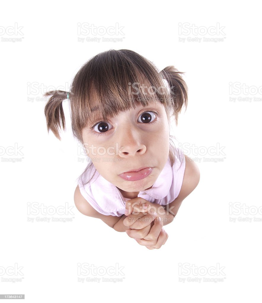 Little Beggar stock photo