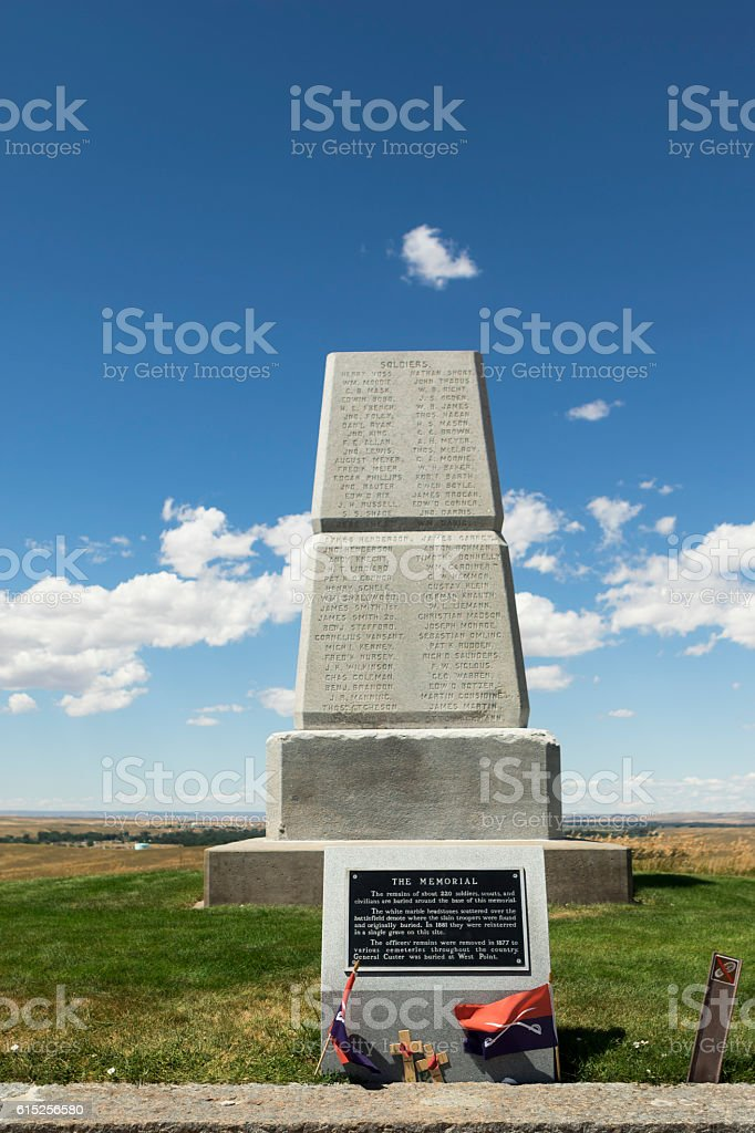 Little Bighorn Battlefield National Monument on Last Stand Hill stock photo