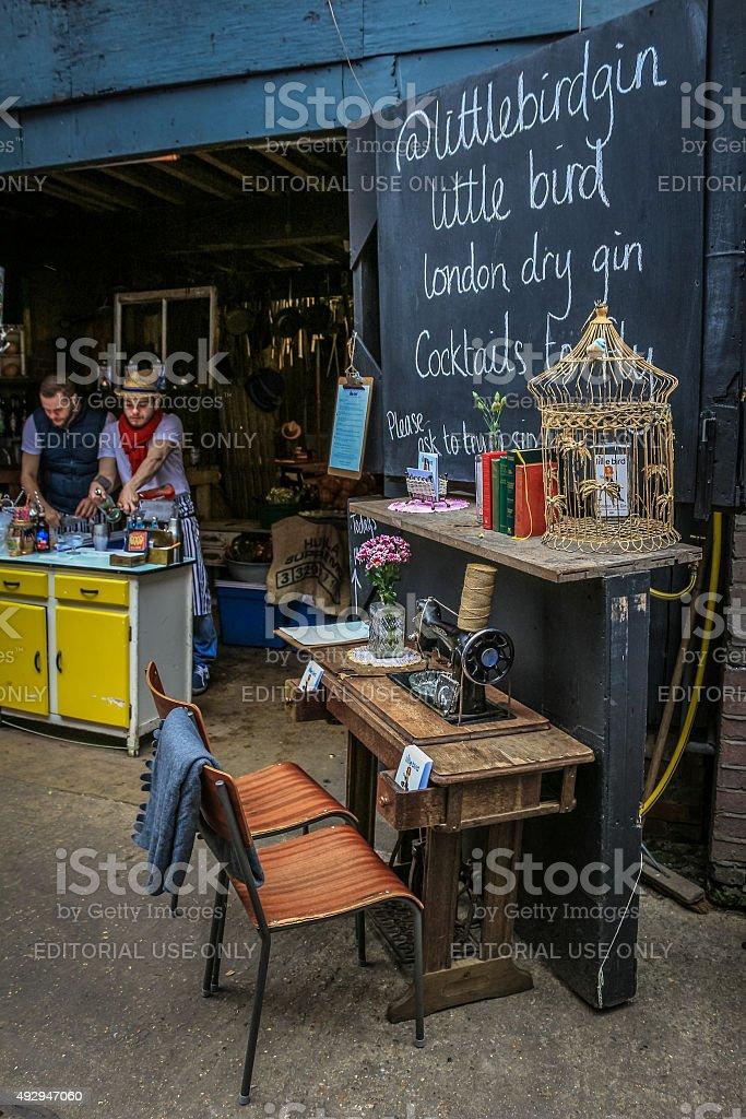 Little Bird Gin, at Rope Walk, Maltby Street market stock photo