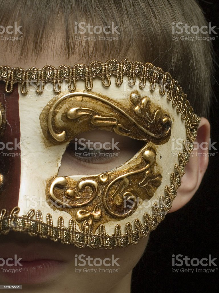 little bit of masquerade royalty-free stock photo