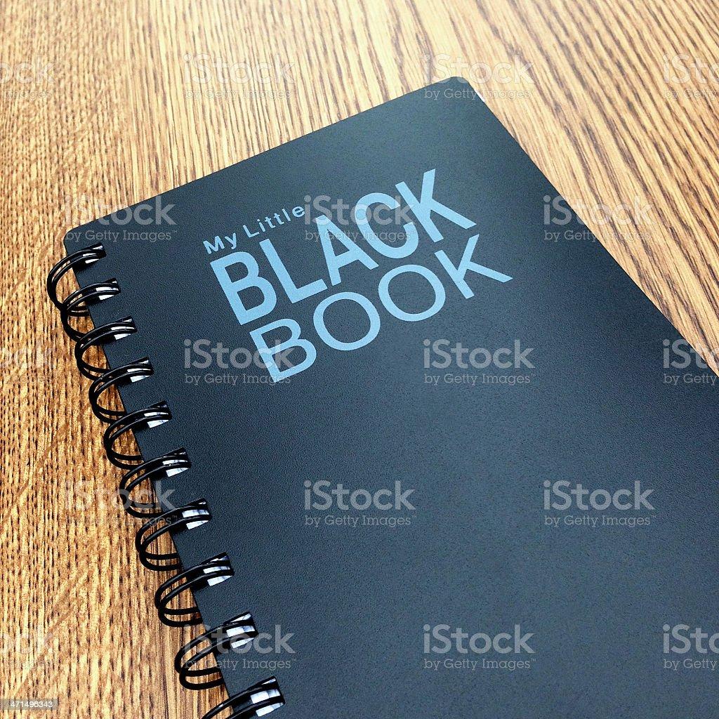 Little black book royalty-free stock photo
