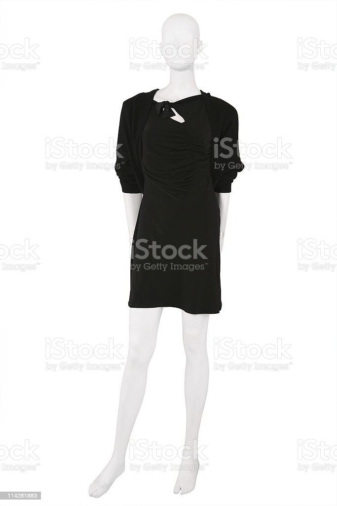 Little black dress on a mannequin royalty-free stock photo