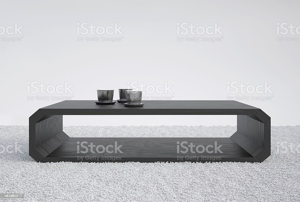 Little Black Wood Table royalty-free stock photo
