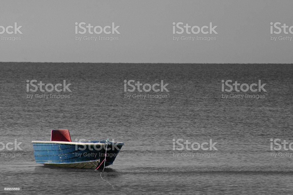 Little Blue Boat stock photo
