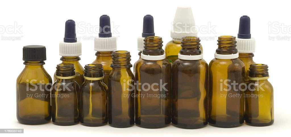 Little bottles in a line royalty-free stock photo