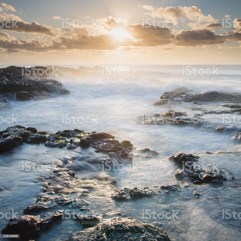 Little Boulder Beach Sunrise stock photo