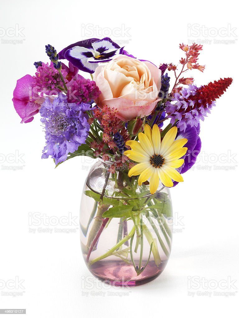 Little bouquet of garden flowers royalty-free stock photo