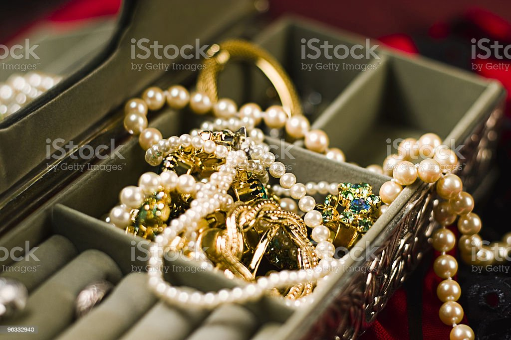 Little Box of Glitter stock photo