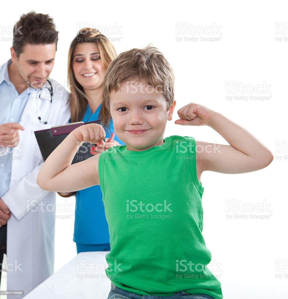 Little Boy And Doctor royalty-free stock photo