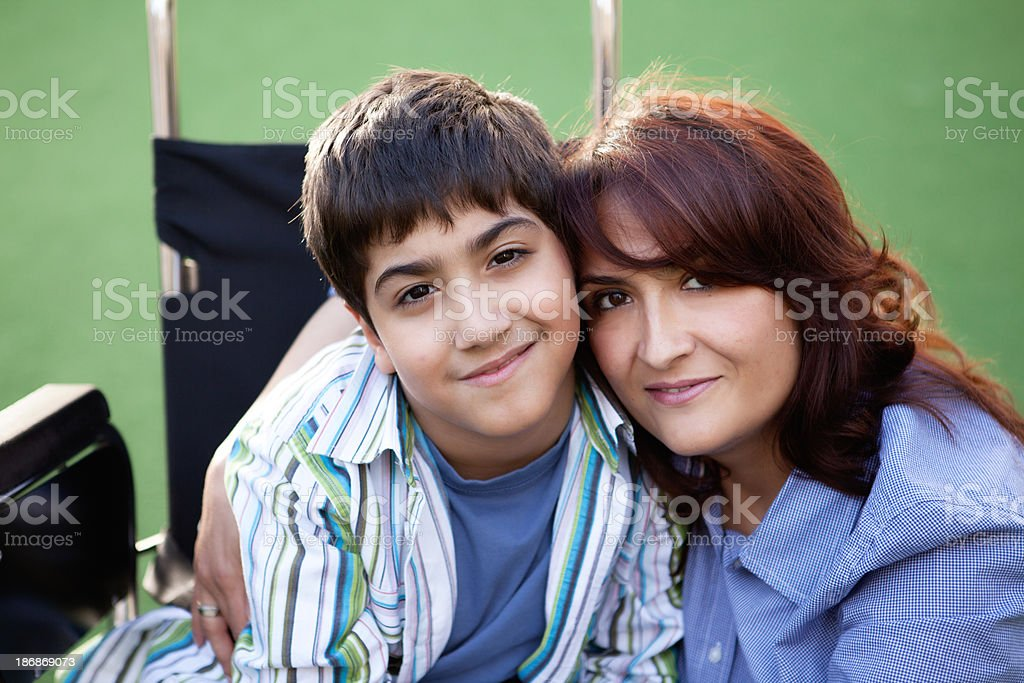 Little Boy and Mother royalty-free stock photo