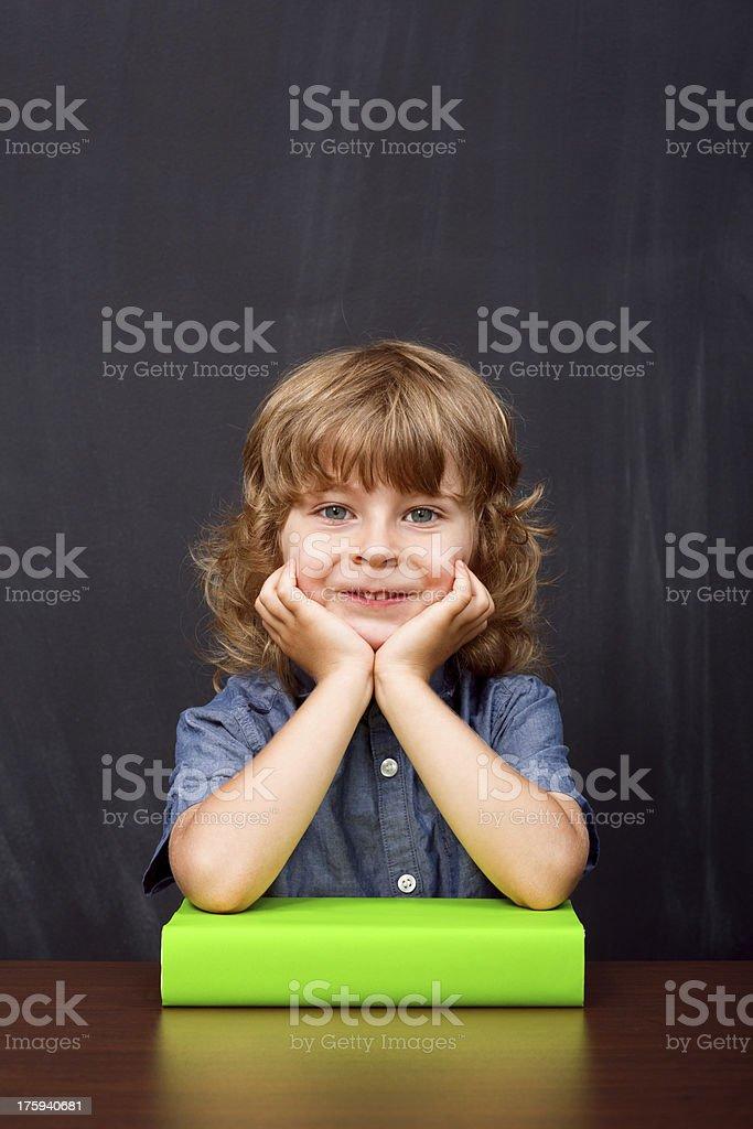 Little boy at school royalty-free stock photo