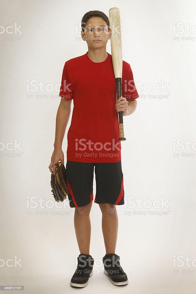 Little Boy Baseball stock photo